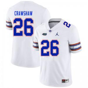 Men #26 Jeremy Crawshaw Florida Gators College Football Jerseys White 507679-126