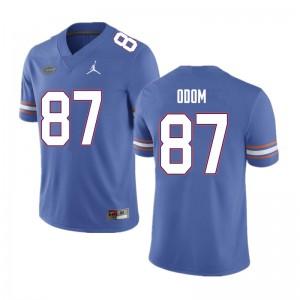 Men #87 Jonathan Odom Florida Gators College Football Jerseys Blue 579975-976