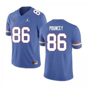Men #86 Jordan Pouncey Florida Gators College Football Jerseys Blue 569330-212