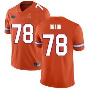 Men #78 Josh Braun Florida Gators College Football Jerseys Orange 584037-869