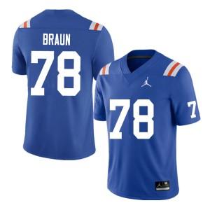 Men #78 Josh Braun Florida Gators College Football Jerseys Throwback 283100-433
