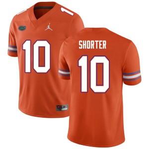 Men #10 Justin Shorter Florida Gators College Football Jerseys Orange 526018-716