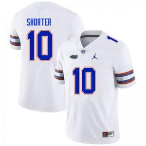 Men #10 Justin Shorter Florida Gators College Football Jerseys White 201825-223