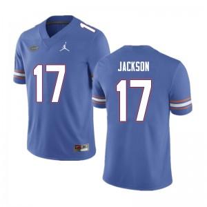 Men #17 Kahleil Jackson Florida Gators College Football Jerseys Blue 392096-704