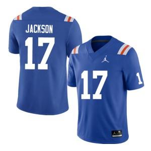 Men #17 Kahleil Jackson Florida Gators College Football Jerseys Throwback 869317-716