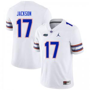 Men #17 Kahleil Jackson Florida Gators College Football Jerseys White 172991-152