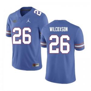 Men #26 Kamar Wilcoxson Florida Gators College Football Jerseys Blue 316497-710
