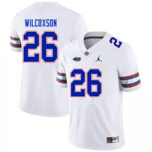Men #26 Kamar Wilcoxson Florida Gators College Football Jerseys White 436155-284