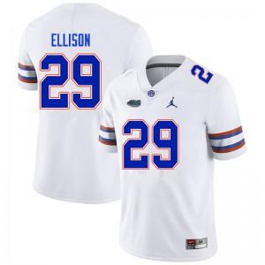 Men #29 Khamal Ellison Florida Gators College Football Jerseys White 309278-447