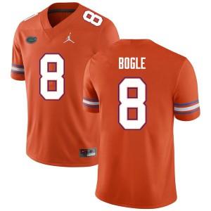 Men #8 Khris Bogle Florida Gators College Football Jerseys Orange 400691-675