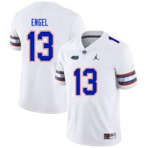 Men #13 Kyle Engel Florida Gators College Football Jerseys White 841391-447