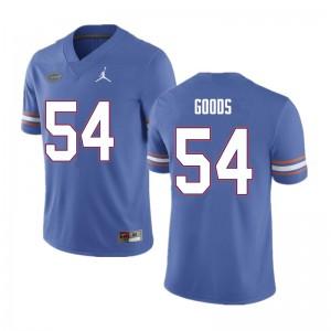 Men #54 Lamar Goods Florida Gators College Football Jerseys Blue 349848-707