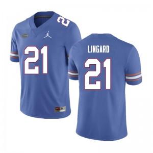 Men #21 Lorenzo Lingard Florida Gators College Football Jerseys Blue 182759-832