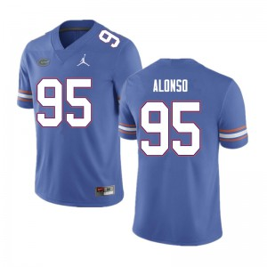 Men #95 Lucas Alonso Florida Gators College Football Jerseys Blue 961800-264