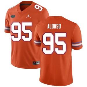 Men #95 Lucas Alonso Florida Gators College Football Jerseys Orange 241156-688