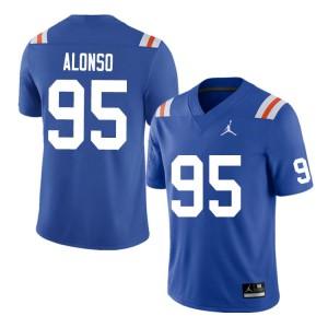 Men #95 Lucas Alonso Florida Gators College Football Jerseys Throwback 819167-220