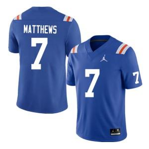 Men #7 Luke Matthews Florida Gators College Football Jerseys Throwback 424040-244