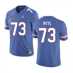 Men #73 Mark Pitts Florida Gators College Football Jerseys Blue 861002-612