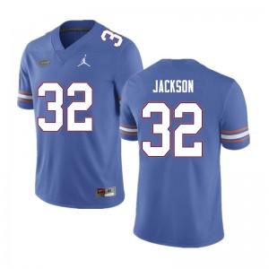 Men #32 N'Jhari Jackson Florida Gators College Football Jerseys Blue 823136-321