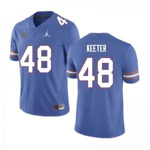 Men #48 Noah Keeter Florida Gators College Football Jerseys Blue 354752-456
