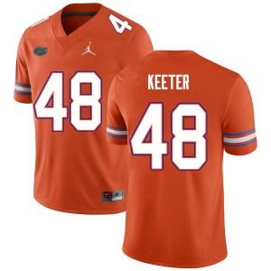Men #48 Noah Keeter Florida Gators College Football Jerseys Orange 331026-306