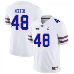 Men #48 Noah Keeter Florida Gators College Football Jerseys White 951835-287