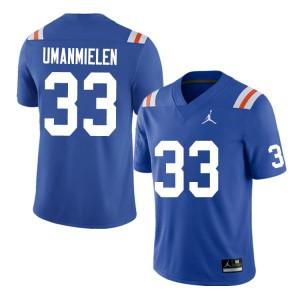 Men #33 Princely Umanmielen Florida Gators College Football Jerseys Throwback 351760-983