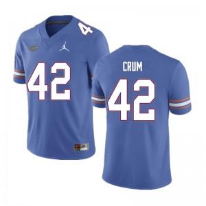Men #42 Quaylin Crum Florida Gators College Football Jerseys Blue 473585-428