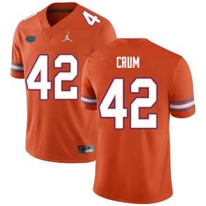 Men #42 Quaylin Crum Florida Gators College Football Jerseys Orange 444578-449