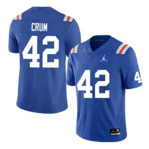 Men #42 Quaylin Crum Florida Gators College Football Jerseys Throwback 517138-121