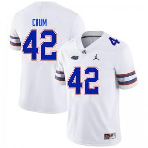 Men #42 Quaylin Crum Florida Gators College Football Jerseys White 703131-777