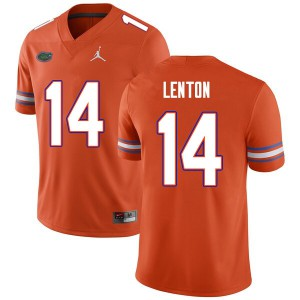 Men #14 Quincy Lenton Florida Gators College Football Jerseys Orange 502301-174