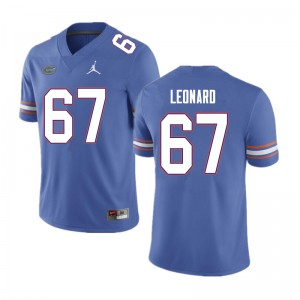 Men #67 Richie Leonard Florida Gators College Football Jerseys Blue 676593-669
