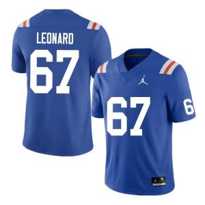 Men #67 Richie Leonard Florida Gators College Football Jerseys Throwback 676129-471