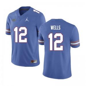 Men #12 Rick Wells Florida Gators College Football Jerseys Blue 180481-415