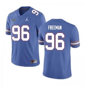 Men #96 Travis Freeman Florida Gators College Football Jerseys Blue 639099-523
