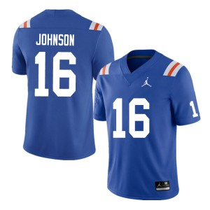 Men #16 Tre'Vez Johnson Florida Gators College Football Jerseys Throwback 469482-346