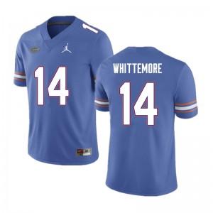 Men #14 Trent Whittemore Florida Gators College Football Jerseys Blue 909849-734