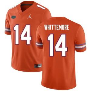Men #14 Trent Whittemore Florida Gators College Football Jerseys Orange 339878-445