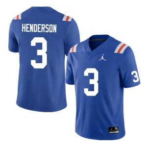 Men #3 Xzavier Henderson Florida Gators College Football Jerseys Throwback 202908-823