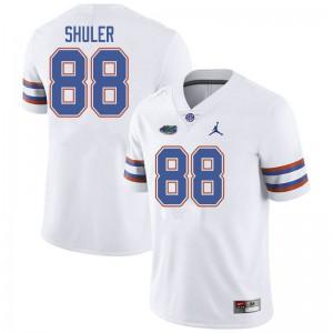 Jordan Brand Men #88 Adam Shuler Florida Gators College Football Jerseys White 588903-361