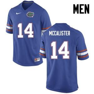Men Florida Gators #14 Alex McCalister College Football Blue 731711-212