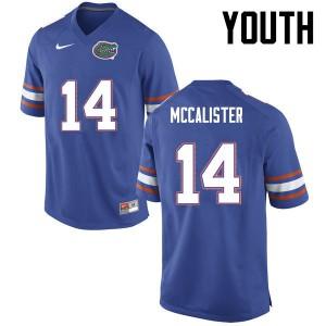 Youth Florida Gators #14 Alex McCalister College Football Blue 646246-419