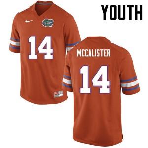 Youth Florida Gators #14 Alex McCalister College Football Orange 310899-855