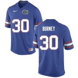Men #30 Amari Burney Florida Gators College Football Jerseys Blue 642969-184