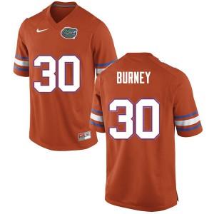 Men #30 Amari Burney Florida Gators College Football Jerseys Orange 776104-334
