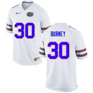 Men #30 Amari Burney Florida Gators College Football Jerseys White 271685-783
