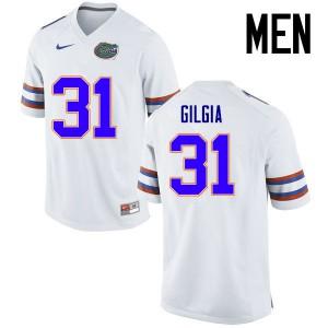 Men Florida Gators #31 Anthony Gigla College Football Jerseys White 935400-608