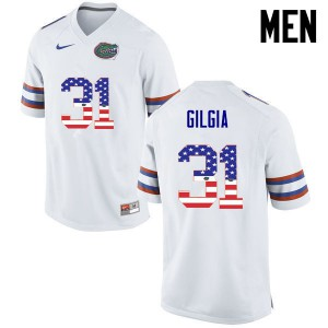 Men Florida Gators #31 Anthony Gigla College Football USA Flag Fashion White 566265-508