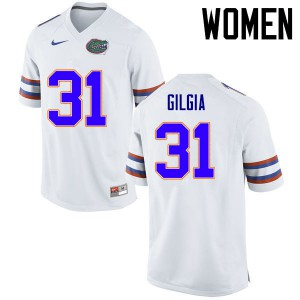 Women Florida Gators #31 Anthony Gigla College Football Jerseys White 420032-295
